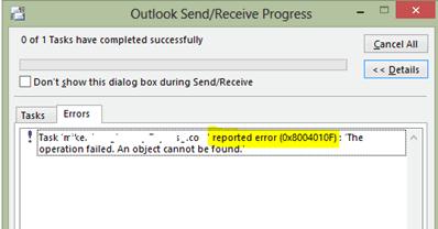 Error code 0x8004010f solved