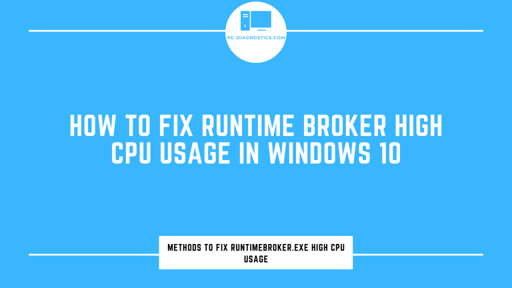 Runtime Broker High CPU Usage
